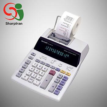 عکس ماشین حساب SHARP نوری و نواری مدل EL-2607P