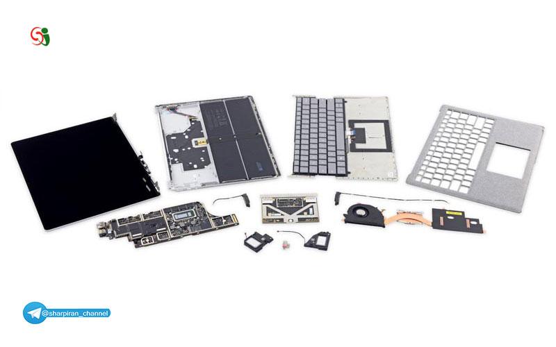 لپ تاپ سرفیس جدید شرکت مایکروسافت قابلیت تعمیر ندارد