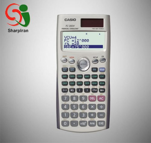 ماشین حساب علمی حل محاسبات مالی Casio مدل Fc-200v
