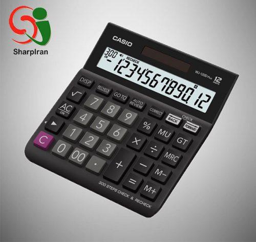 ماشین حساب کنترل و تصحیح Casio مدل WJ-120D PLUS