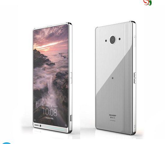 تصویر گوشی جدید بدون حاشیه شرکت شارپ